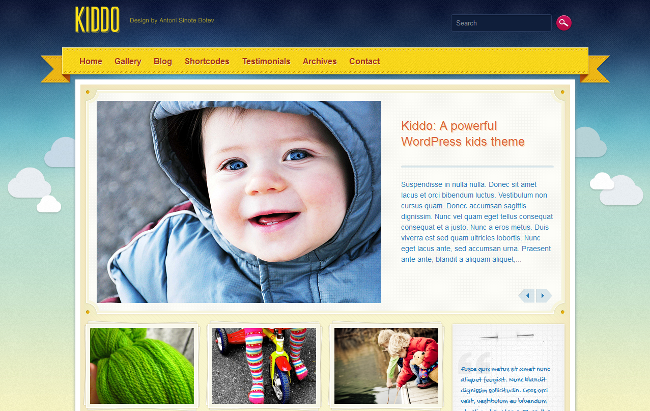 Childcare Website Template - Option #3